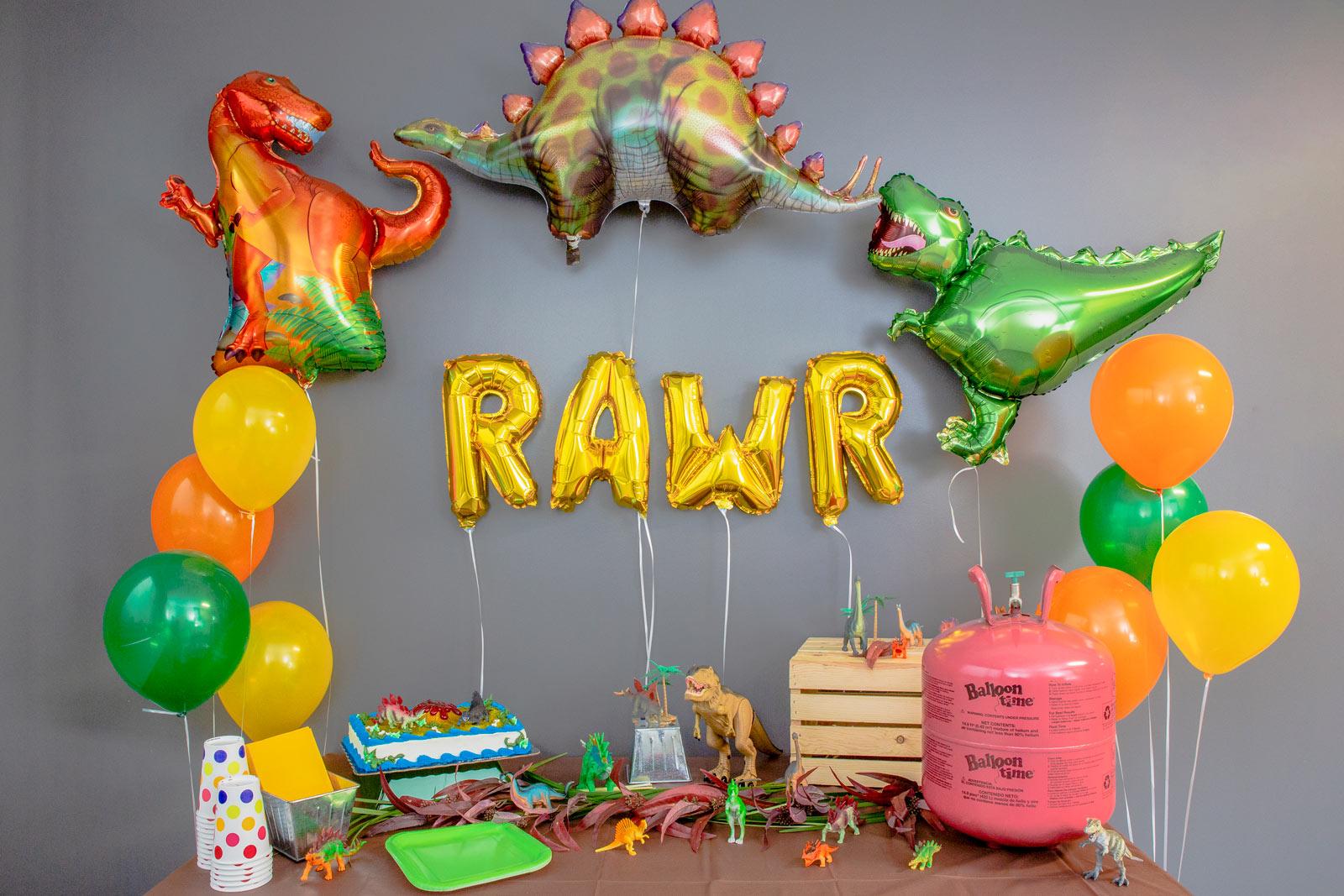 Dinosaur themed birthday party decorations