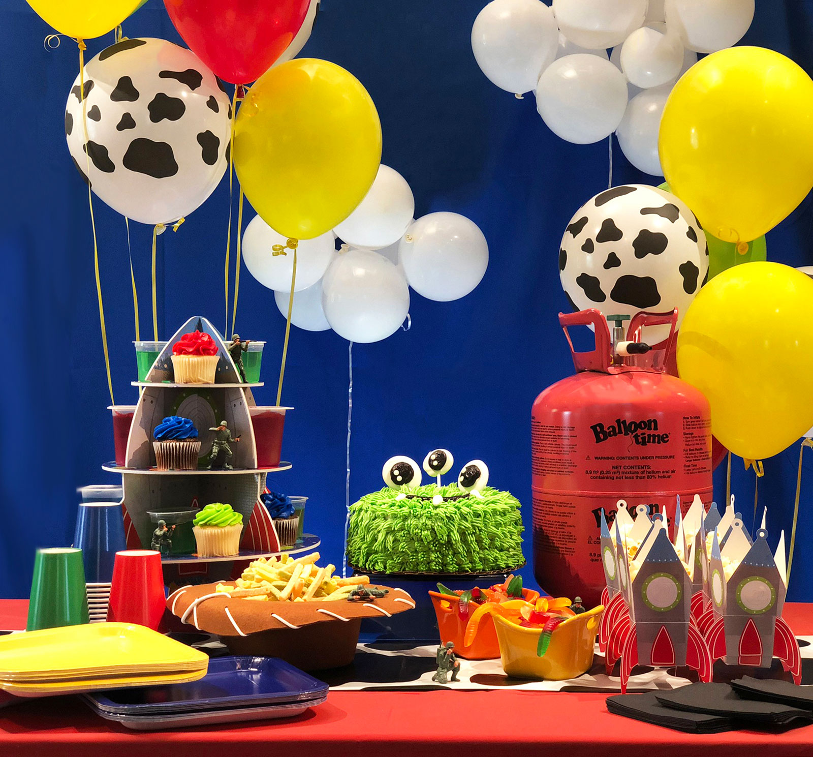 Birthday party decoration for young boy