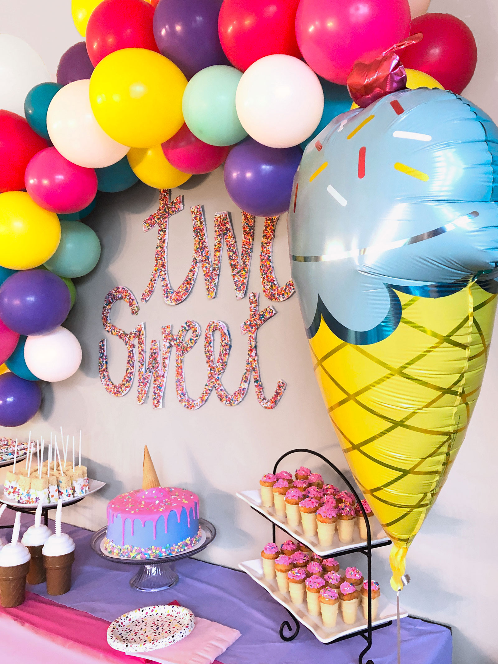 Party decorations for kid's 2nd birthday