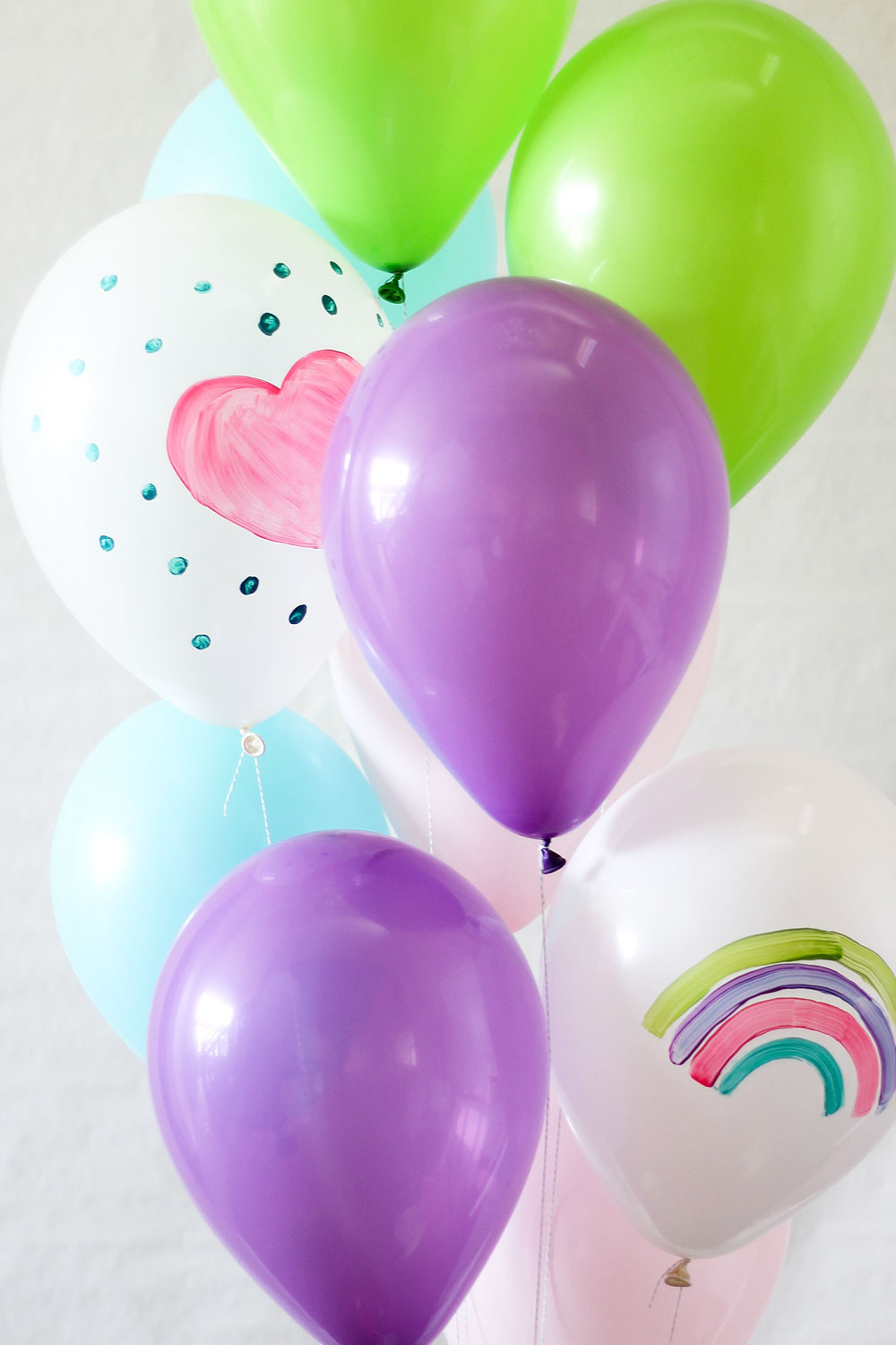 Balloons painted on by children