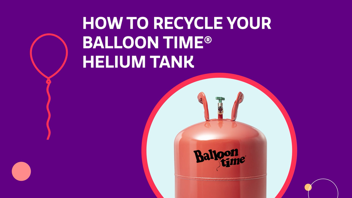How to recycle your balloon time helium tank